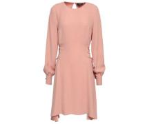 Lace-up Satin-crepe Mini Dress Blush
