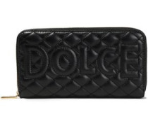 Quilted Leather Continental Wallet Black Size --