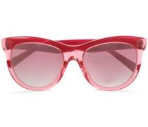 D-frame acrylic sunglasses