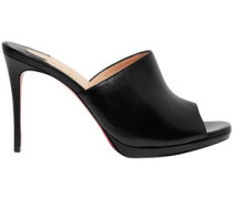 Pigamule 100 Leather Mules Black