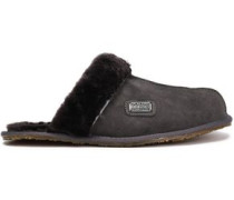 Shearling Slippers Dark Gray