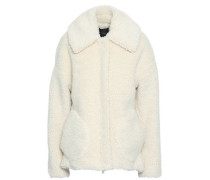 Woman Faux Shearling Coat Ivory