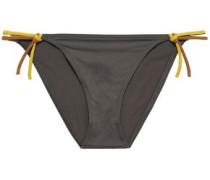Cinecittà Leona Low-rise Bikini Briefs Dark Gray