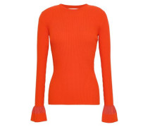 Stretch-cotton Sweater Tomato Red