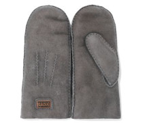 Shearling Mittens Gray Size ONESIZE