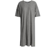 Mélange cotton and wool-blend jersey dress