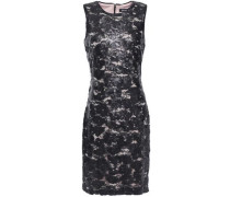 Sequined Embroidered Tulle Dress Black