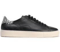 Clean 90 Perforated Leather Sneakers Black