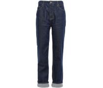 High-rise Straight-leg Jeans Dark Denim  6