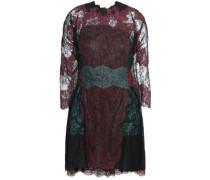Cape-back silk Chantilly lace mini dress