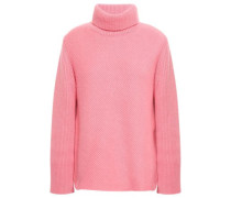 Virgin Wool And Cashmere-blend Turtleneck Sweater Bubblegum