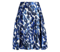 carolina herrera new york online shop mybestbrands  pleated printed silk and wool blend skirt cobalt blue carolina herrera new york
