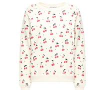 Cotton-blend Fleece Sweatshirt Ivory