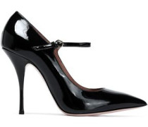 Patent-leather Mary Jane Pumps Black