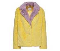 Woman Mariska Two-tone Faux Fur Jacket Pastel Yellow