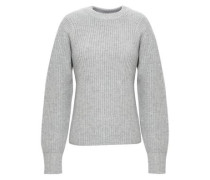 Wool, dsilk and cashmere-blend sweater