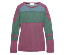 Metallic knitted sweater
