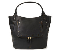 Studded Leather Tote Black Size --