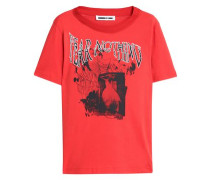 Printed Cotton-jersey T-shirt Red
