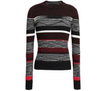 Intarsia Wool, Silk And Cashmere-blend Sweater Merlot
