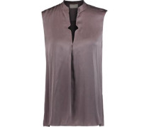 Pearce washed silk-blend top