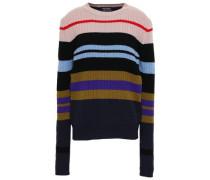 Striped Ribbed Merino Wool Sweater Multicolor