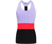 Perforated Stretch Tank Lilac