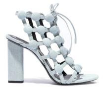Rubie Studded Denim Sandals Light Denim