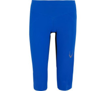 Core Performance Cropped Stretch-jersey Leggings Bright Blue