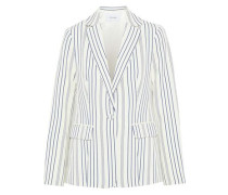 Striped Jacquard Blazer Off-white