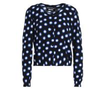 Polka-dot cotton cardigan