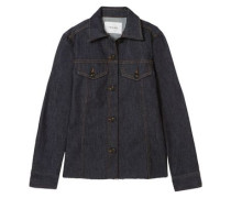 Le Raw Frayed Denim Shirt Black