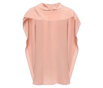 Tie-neck Silk Crepe De Chine Top Blush