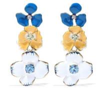 Crystal, enamel and gold-tone earrings