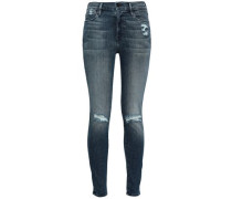 Le High Faded High-rise Skinny Jeans Dark Denim  3