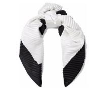 Two-tone piqué silk scarf