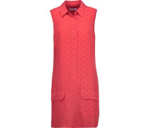 Lucida printed washed-silk mini dress
