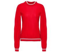 Striped Jersey Sweatshirt Red
