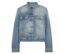 Zola Distressed Denim Jacket Mid Denim
