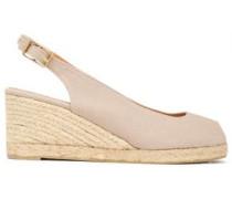 Canvas Wedge Sandals Neutral
