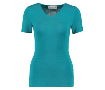 Merino wool and silk-blend top