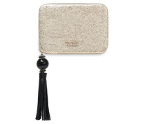 Madison Evening Belles Zurie metallic embossed leather clutch