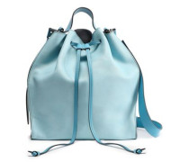 Leather Bucket Bag Sky Blue Size --