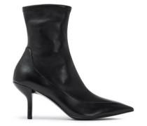 Morgan Leather Sock Boots Black
