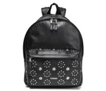 Embellished Leather Backpack Black Size --