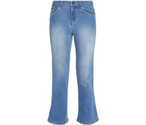 Faded flared jeans