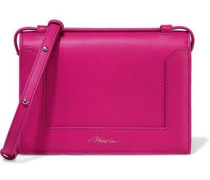 Woman Soleil Mini Leather Shoulder Bag Fuchsia
