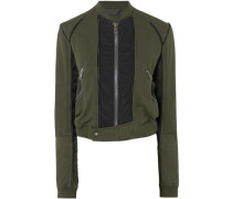 Cotton-jersey bomber jacket