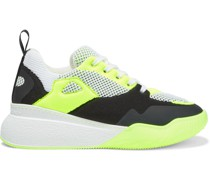 Loop Neon-trimmed Mesh And Stretch-knit Sneakers