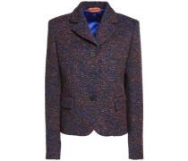 Marled bouclé-tweed blazer